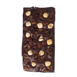winchester chocolate bar, raisins and hazelnuts